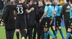 """Juventus-Milan, può costare cara la """"furia del Diavolo"""": in arrivo la decisione del giudice sportivo"""