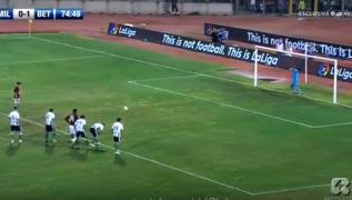 Gol di Andre Silva su calcio di rigore, Milan 1- Betis Siviglia 1 [VIDEO]
