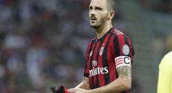 Sky Sport – Milan-Rijeka, Bonucci molto nervoso negli spogliatoi