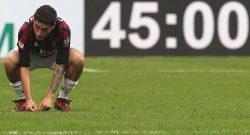 Calabria, infortunio muscolare: si cerca di recuperarlo per Milan-Chievo