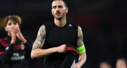 Arsenal-Milan, Bonucci scatena i tifosi rossoneri e bianconeri su Instagram [FOTO]