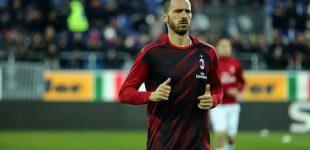 Milan, Bonucci è diffidato: rischia di saltare la Juventus