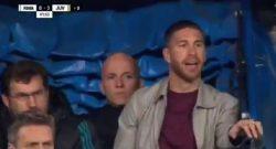 Real Madrid, lo squalificato Sergio Ramos nel tunnel a fine gara: rischia un'altra squalifica