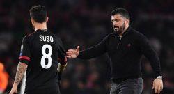 """Milan, Gattuso """"Suso vuole restare. Berardi e Politano? Interessanti"""""""