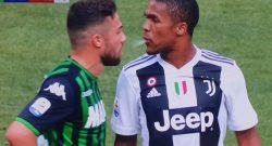 """Juve, procuratore FIGC segnala Douglas Costa: """"Non solo sputo, anche gomitata con prova tv"""""""