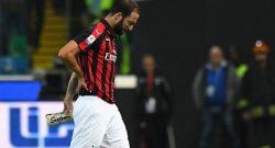 Sky – Milan, ancora problemi alla schiena per Higuain