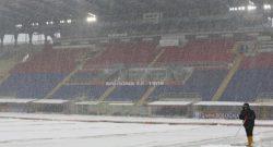 Bologna-Milan, la gara non è a rischio: si giocherà regolarmente dopo la fitta nevicata di ieri
