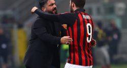 Genoa-Milan, i convocati di Gattuso: manca Higuaín!