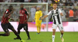 Juventus, infortunio muscolare per Dybala: out contro il Milan?